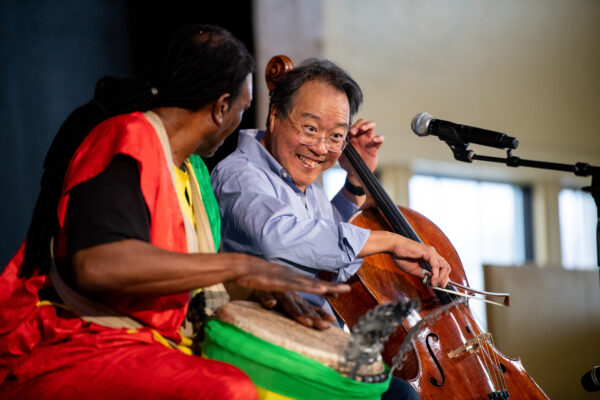 Cellist Yo-Yo Ma plays with Baba Collins
