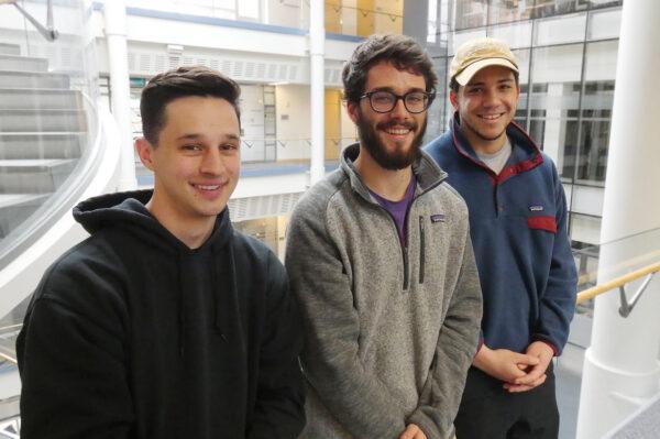 CS students Mitchell Bigland, Nicholas Keuning, and Chase Austin