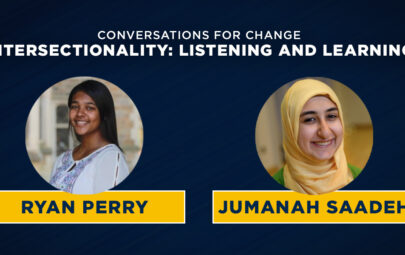 conversations for change: intersectionality: listening and learning featuring Ryan Perry and Jumanah Saadeh