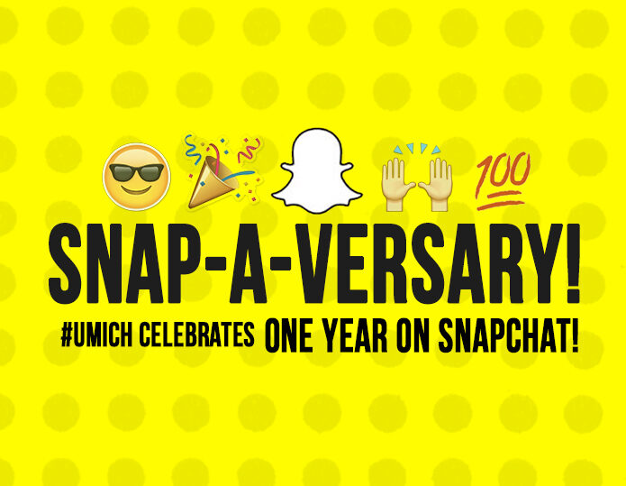 Last month, we celebrated the first anniversary of one of #UMSocial's most successful initiatives to date- our 'UofMichigan' Snapchat account.